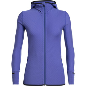 Icebreaker Descender LS Zip Hood Jacket Women Mystic